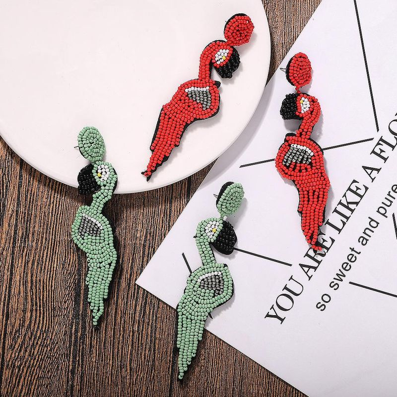 Mizhu Earrings Woodpecker Earrings Unique Earrings Pop NHJQ187795