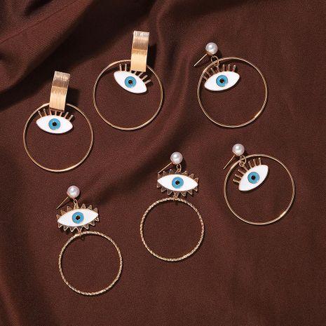 Jewelry New Temperament Alloy Pearl Eye Geometric Earrings NHJQ187796's discount tags