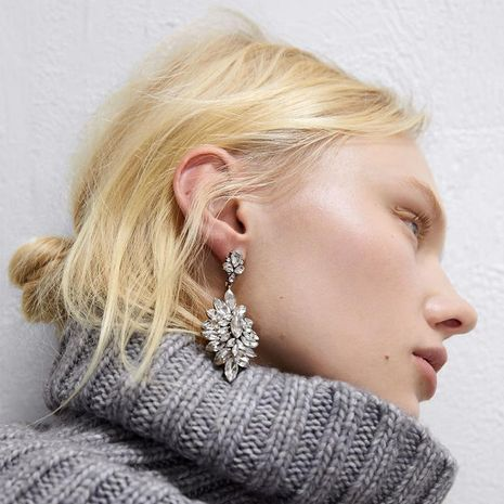 Explosion style fashion earrings simple fashion earrings alloy diamond jewelry wholesale NHJQ187799's discount tags