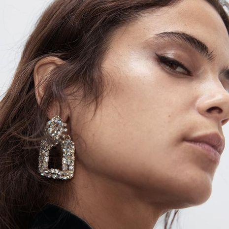 Alloy Diamond Square Earrings Luxury Rhinestone Earrings NHJQ187800's discount tags