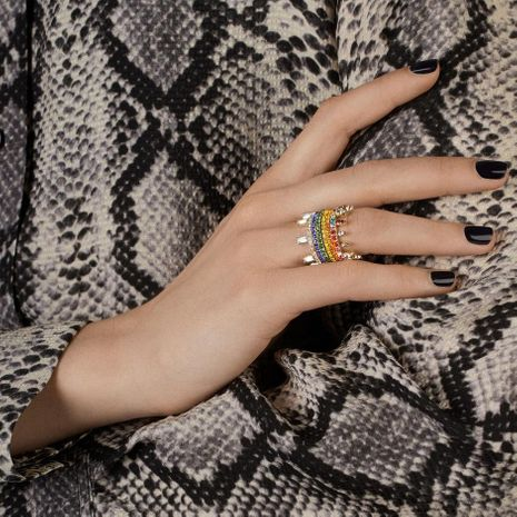 Japan and South Korea new alloy diamond closed ring fashion wild hand accessories NHJQ187814's discount tags