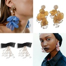 Pearl Beaded Bow Earrings Fashion Spinning Fabric Earrings NHJQ187818