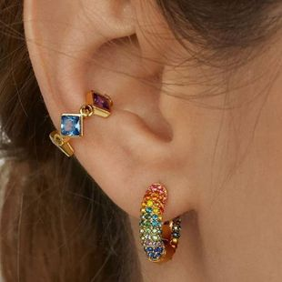 Alloy diamond ear clip temperament exquisite earring wholesale NHJQ187822's discount tags