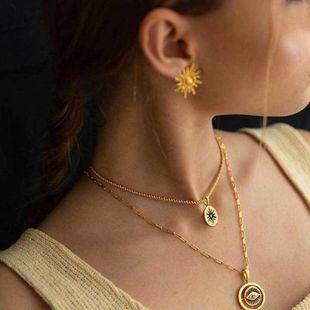 Sun flower earrings fashion personalized metal sun earrings earrings NHNZ187860's discount tags