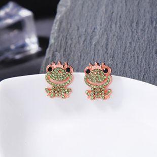 New earrings diamond earrings light frog prince stud earrings NHQD187880's discount tags