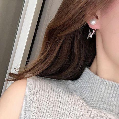 Earrings S925 Silver Stud Earrings Light Luxury Pearl Kitten Earrings NHQD187881's discount tags