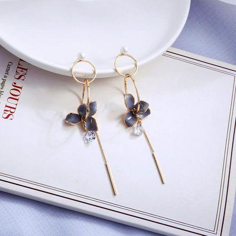 Dripping flower earrings long pearl earrings fashion geometric tassel earrings NHQD187886's discount tags