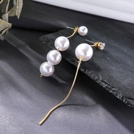 Long Diamond Earrings Fashion Pearl Earrings Asymmetric Tassel Stud Earrings NHQD187889's discount tags
