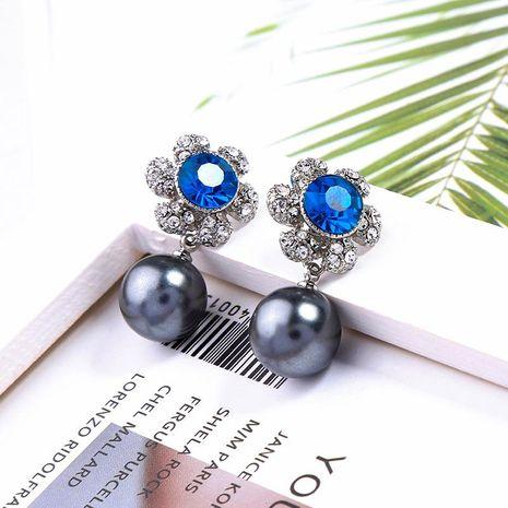 Flower Studded Pearl Earrings Earrings Women Fashion Commute Earrings NHQD187890's discount tags