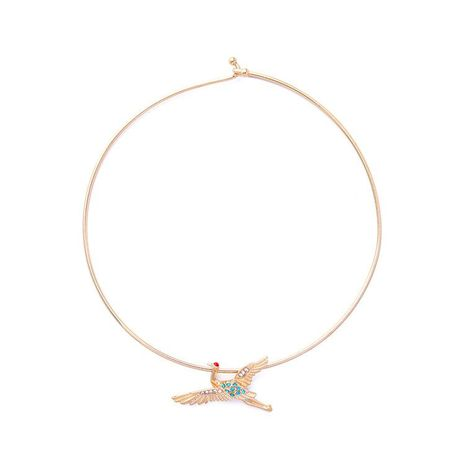Fashion Jewelry Wholesale Simple Diamond Bird Necklace Short Ladies Chain NHQD187893's discount tags