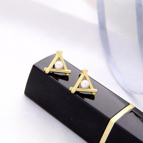 Pearl earrings Korean fashion geometric earrings without pierced ear clips NHQD187913's discount tags