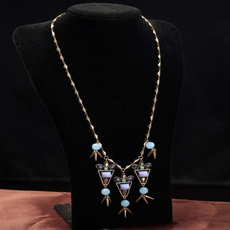 Jewelry orange pendant ladies necklace fashion hot jewelry wholesale NHQD187921's discount tags