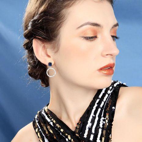 s925 sterling silver hoop earrings female new fashion geometric circle earrings NHQD187923's discount tags