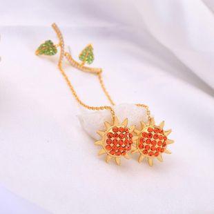 New 925 Sterling Silver Earrings Fashion Diamond Sun Earrings Korean Long Leaf Earrings NHQD187940's discount tags