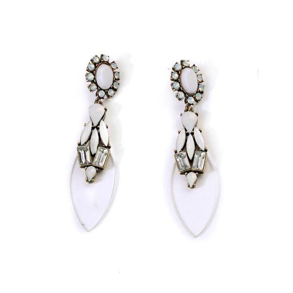 Fashion jewelry wholesale transparent pendant ladies earrings NHQD187945