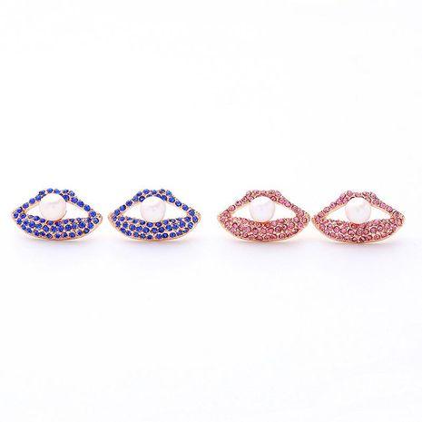 Jewelry Diamond Pearl Lip Earrings Simple Korean Fashion Earrings NHQD187948's discount tags
