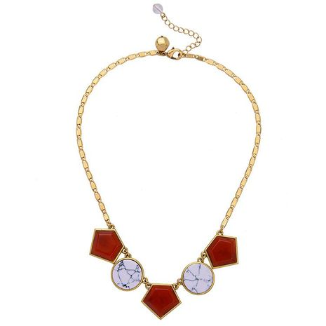 Fashion jewelry wholesale simple wild geometric pattern ladies necklace NHQD187949's discount tags