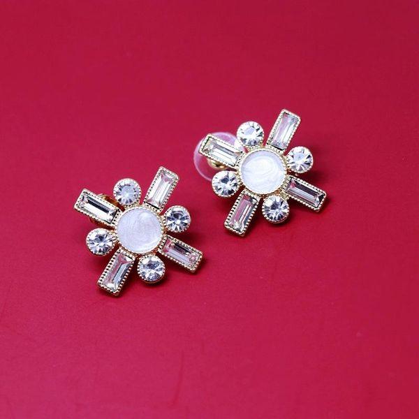 Strip Diamond Square Silver Stud Ear Stud Ear Clip White Round Oil Drop Ear Stud Dress Ear Studs NHOM187959