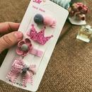 Hair Clip Cute Little Girl Headdress Set Children Hair Accessories Bow Side Clip Accessories NHPJ188047