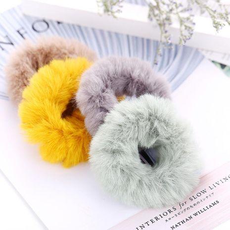 Cute candy-colored rabbit hair loop simple mink hair rope NHPJ188048's discount tags