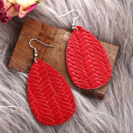 New Big Red Woven Earrings Creative Retro Simple Earrings NHPJ188050's discount tags
