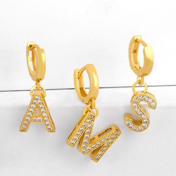 Alphabet earrings with diamonds NHAS188058