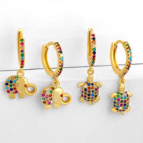 earrings new animal earrings fashion baby elephant turtle earrings female accessories wholesale NHAS188068's discount tags