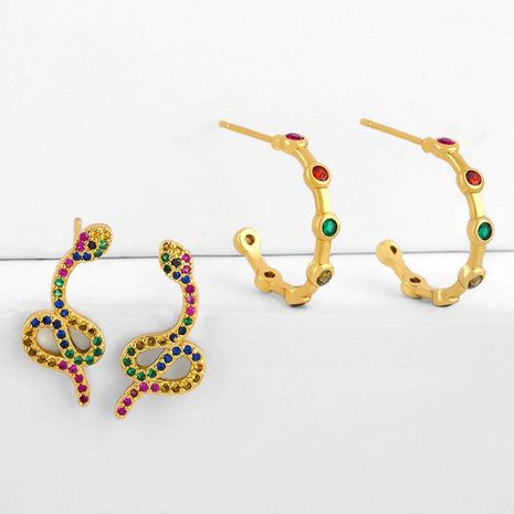 earrings snake earrings female c-shaped senior earrings NHAS188071's discount tags