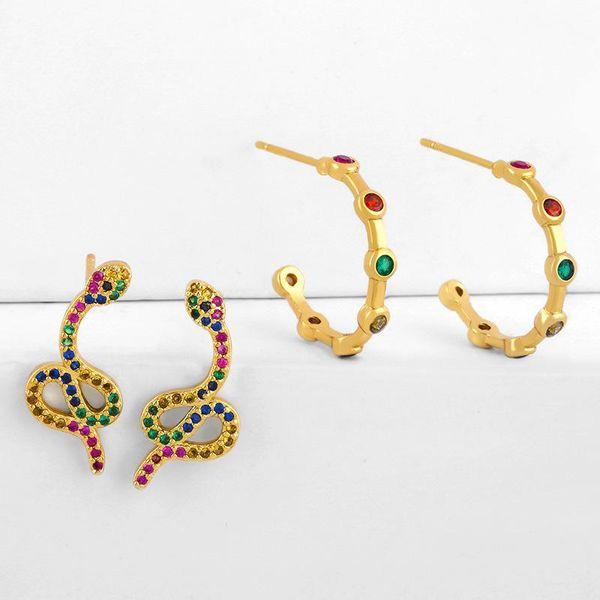 earrings snake earrings female c-shaped senior earrings NHAS188071