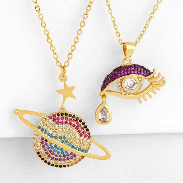 Jewelry Women's Simple Sweater Chain Micro Inlaid Diamond Ring Necklace Wholesale NHAS188074