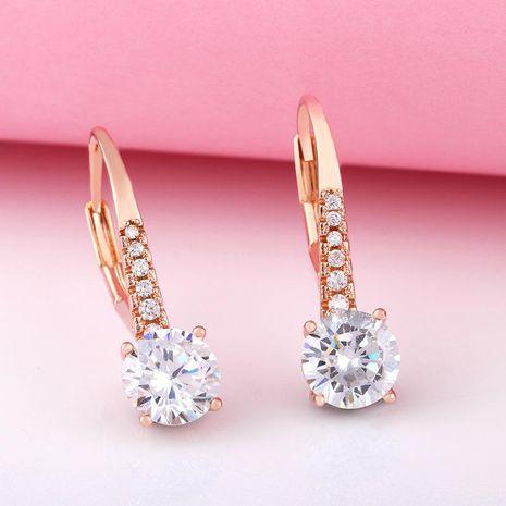 earrings zircon earrings female simple rose gold classic retro earrings wholesale NHAS188084's discount tags