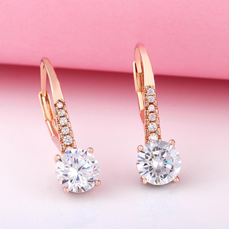 earrings zircon earrings female simple rose gold classic retro earrings wholesale NHAS188084