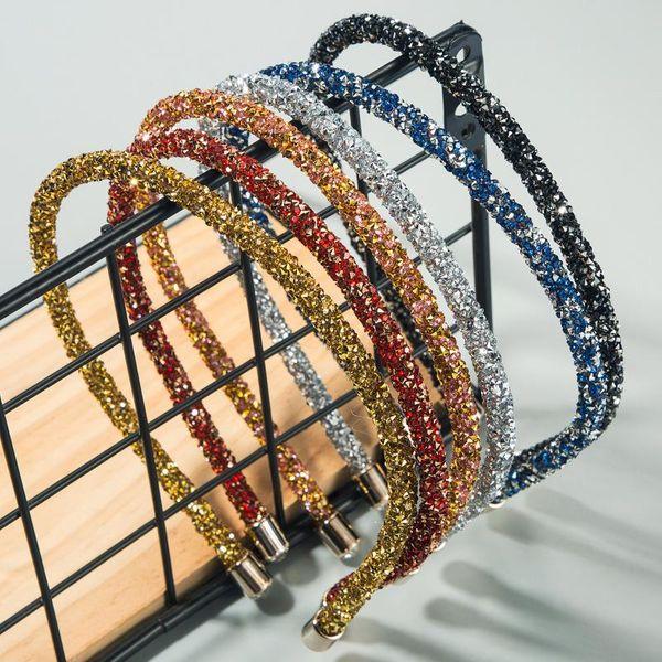 Headband simple full diamond Korean ultra flash narrow side Korean imported hair hoop NHLN188088