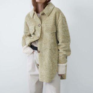 Wholesale winter fleece shirt women's faux fur coat coat NHAM188153's discount tags
