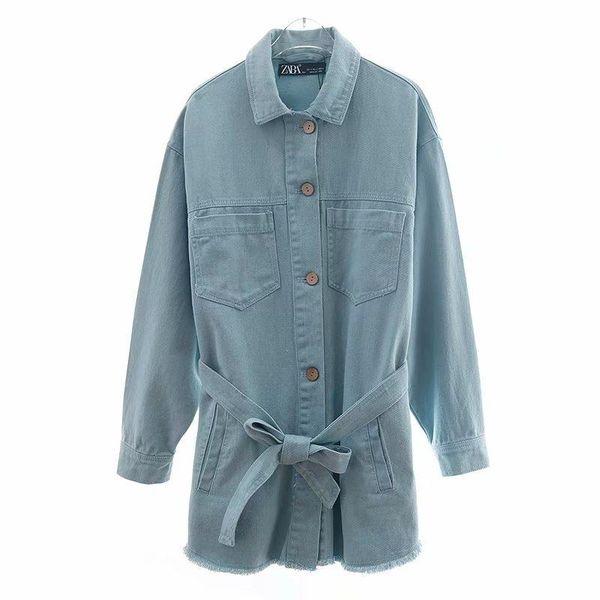 2019 summer belt denim jacket wholesale NHAM188223