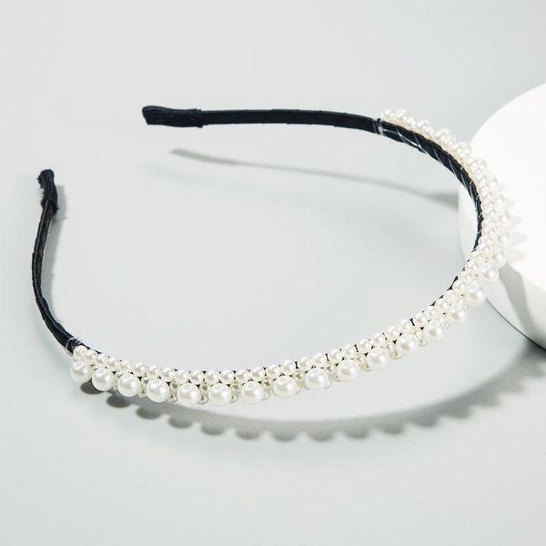 New Double-Row Pearl Hair Accessories Korean Bride Hoop NHLN188269