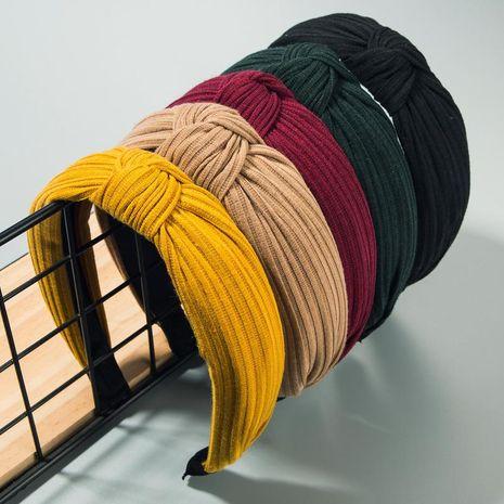 Simple Women's Headband Korean Wide-Edged Wrap Bow Cross Fabric Headband NHLN188270's discount tags