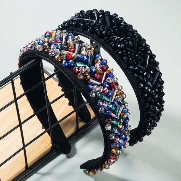 Accesorios para el cabello de moda Versión ancha Tejido a mano Versión completa Crystal Lady Hair Band NHLN188277