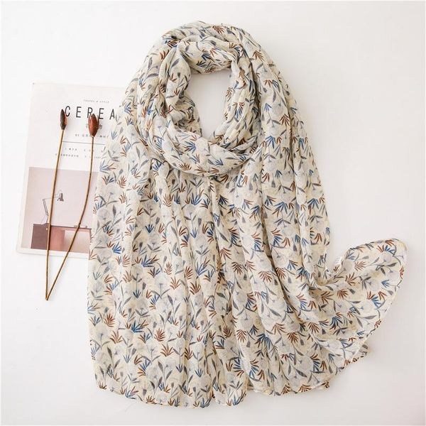 Sweet floral thin cotton scarf  spring and autumn fringed shawl NHGD188323