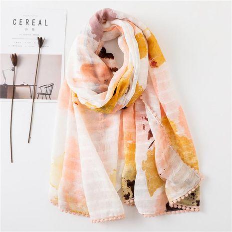 Fur ball lace travel sun protection shawl beach towel NHGD188334's discount tags