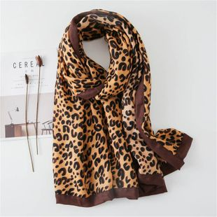 C Leopard Scarf Cotton Linen Warm Covered Bib Shawl NHGD188335's discount tags