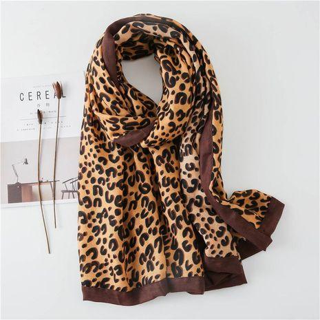 C Leopard Scarf Cotton Linen Warm Covered Bib Shawl NHGD188335's discount tags
