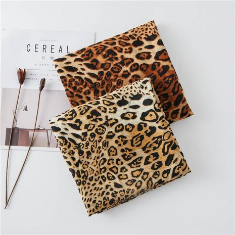 Women's cotton and linen scarf autumn and winter fashion leopard long scarf NHGD188340's discount tags