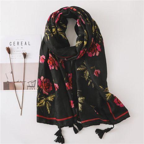 Scarf female summer beach print beach towel flower sunscreen long scarf NHGD188355's discount tags