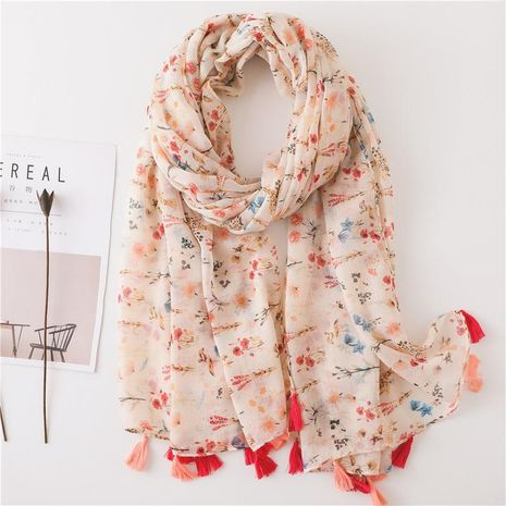 Spring and summer cotton and linen scarf women's visual department long paragraph increase shawl dual-use NHGD188358's discount tags
