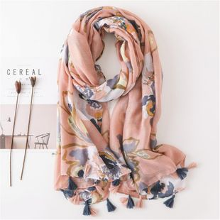 Autumn and winter women's cotton scarf fashion splash ink flowers fashion sun shawl NHGD188360's discount tags