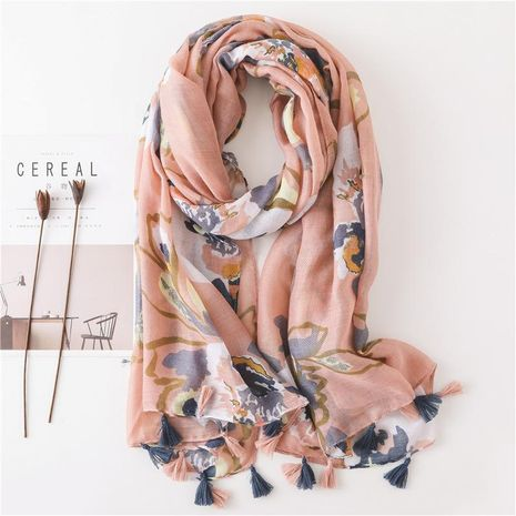 Autumn and winter women's cotton scarf fashion splash ink flowers fashion sun shawl NHGD188360's discount tags