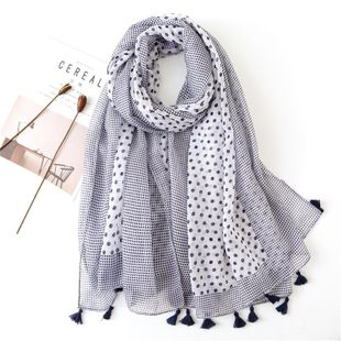 Cotton and linen scarves women's soft long dual-use scarves wild sun shawl NHGD188362's discount tags