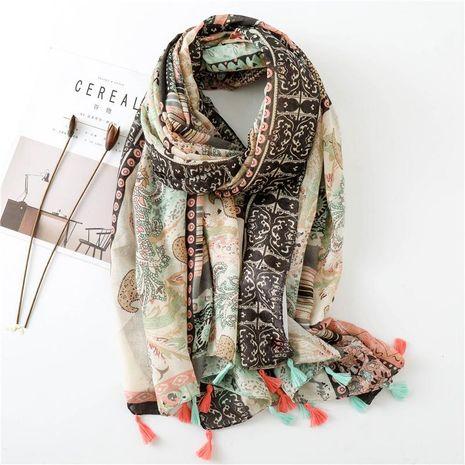 Holiday shawl cotton hemp cashew flower handmade shawl scarf wholesale NHGD188363's discount tags