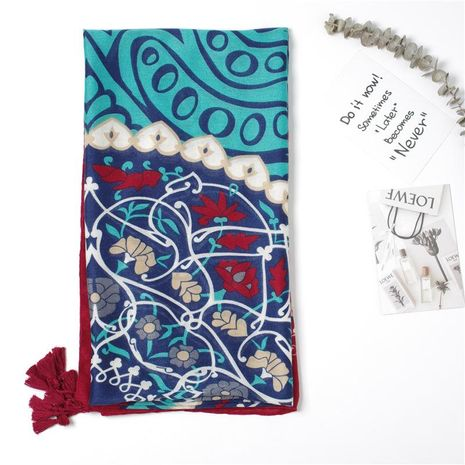 New scarf summer scarf cotton and linen scarf shawl dual purpose NHGD188365's discount tags
